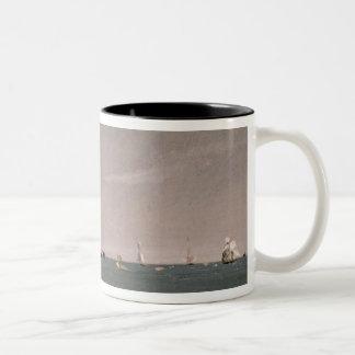 Brighton Beach with colliers, 1824 Two-Tone Coffee Mug