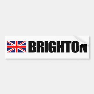 Brighton, British Flag Bumper Sticker
