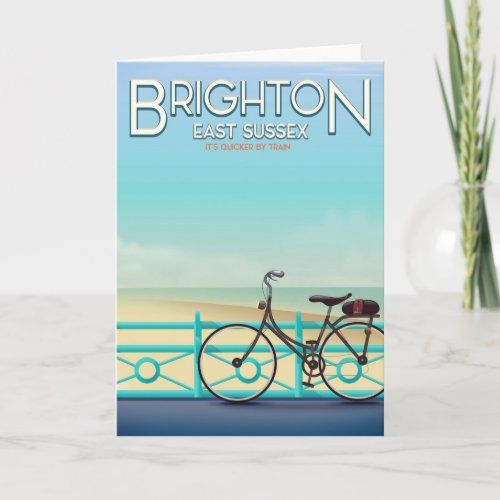 Brighton, East Sussex vintage travel poster.