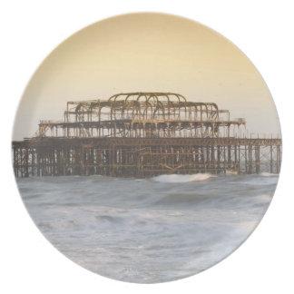 Brighton, England 3 Party Plates