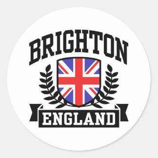 Brighton England Round Stickers