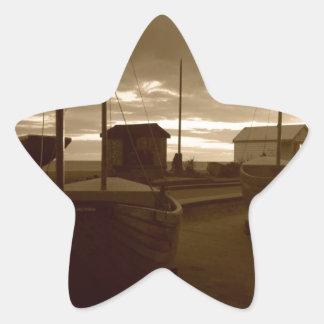 Brighton Fishing Boats Star Sticker