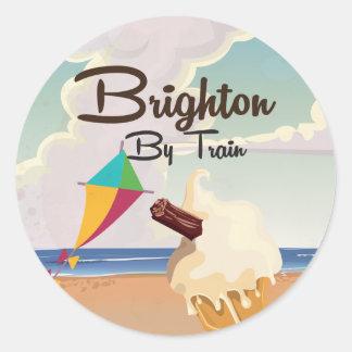 Brighton ice cream Travel Poster Classic Round Sticker