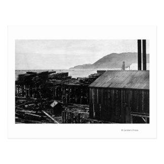 Brighton, Oregon Lumber Mills on Coast Photograp Postcard