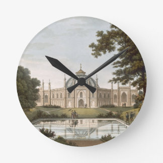 Brighton Pavilion: Proposed view of the garden wit Round Wallclock