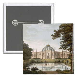 Brighton Pavilion: Proposed view of the garden wit Pinback Button