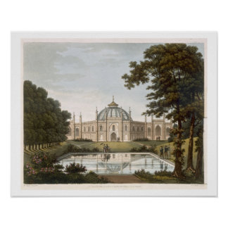 Brighton Pavilion: Proposed view of the garden wit Poster