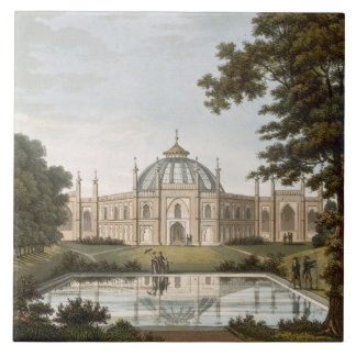 Brighton Pavilion: Proposed view of the garden wit Tile