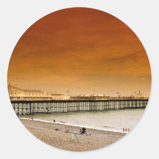 Brighton pier England Round Sticker