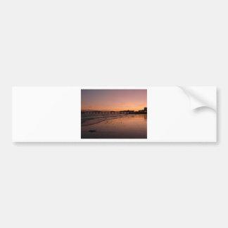 brighton pier in the sunset bumper sticker