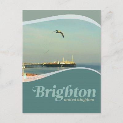 Brighton Pier Seagull Postcard postcard