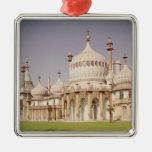 Brighton Royal Pavilion Square Metal Christmas Ornament