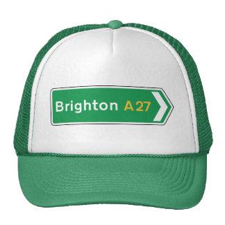 Brighton, señal de tráfico BRITÁNICA Gorra