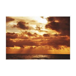 brighton sunset canvas print