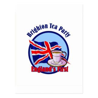 Brighton Tea Party Postcard
