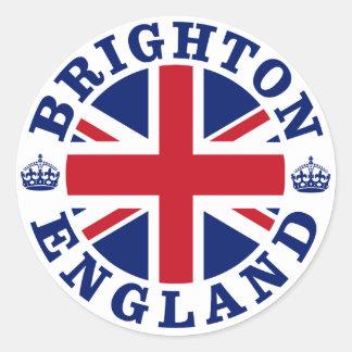 Brighton Vintage UK Design Round Stickers