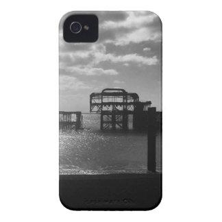 Brighton West Pier black & white iPhone 4 Case