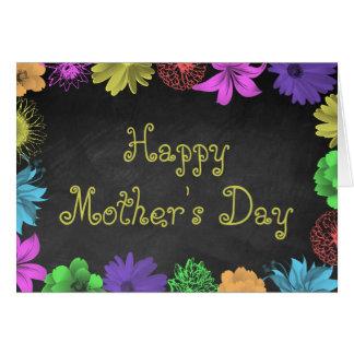 Brights floral en el día de madre feliz de la tarjeta de felicitación