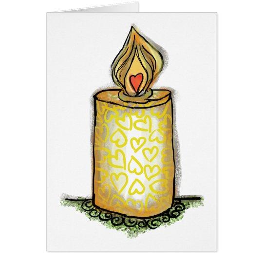 Brigid's Candle Card