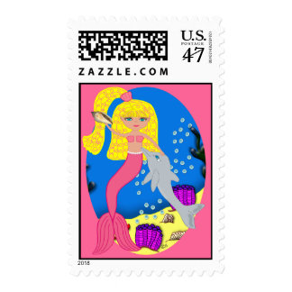 Brigit the Mermaid Postage