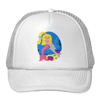 Brigit the Pink Mermaid and Dolphin Hat