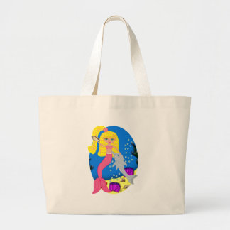 Brigit the Pink Mermaid and Dolphin Tote Bag