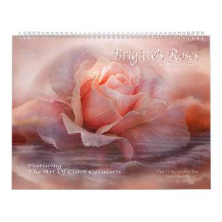 Brigitte's Roses 2 Art Calendar 2015