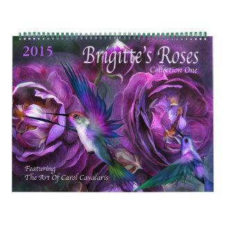 Brigitte's Roses Art Calendar 2015