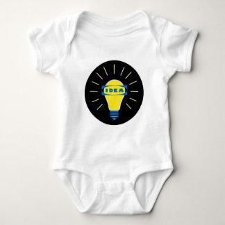Brigth Idea Parody logo Baby Bodysuit