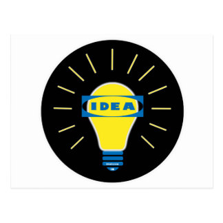 Brigth Idea Parody logo Postcard