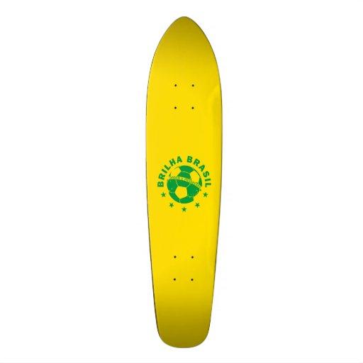 Brilha Brasil - Brazilian Soccer Skate Board Deck