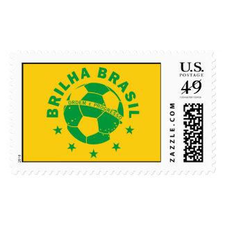 Brilha Brasil - Brazilian Soccer Stamp