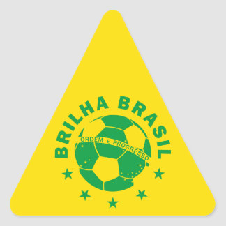 Brilha Brasil - Brazilian Soccer Triangle Sticker