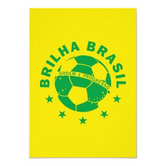 """Brilha el Brasil - fútbol brasileño Invitación 5"""" X 7"""""""