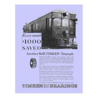 Brill Company 1926 M-1 Gas Electric Car Postcard