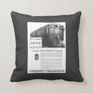 Brill Company 1926 M-1 Gas Electric Car Throw Pillow