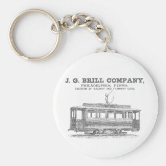 Brill Company Streetcars and Tramway Cars 1860 Basic Round Button Keychain