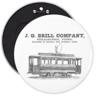 Brill Company Streetcars and Tramway Cars 1860 Pin
