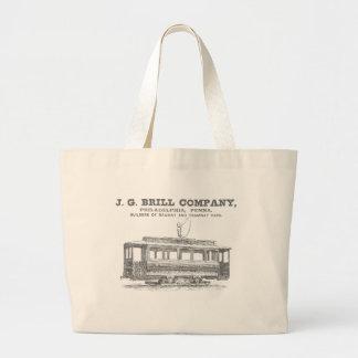 Brill Company Streetcars and Tramway Cars 1860 Large Tote Bag