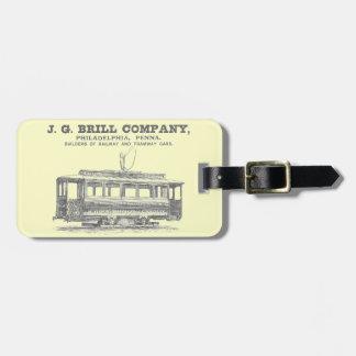 Brill Company Streetcars and Tramway Cars 1860 Luggage Tag