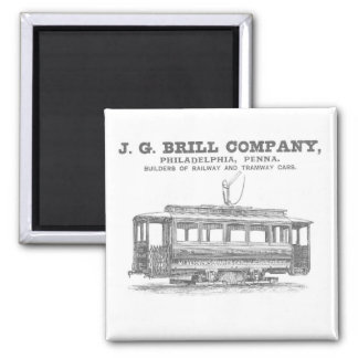 Brill Company Streetcars and Tramway Cars 1860 Magnets