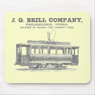 Brill Company Streetcars and Tramway Cars 1860 Mouse Pads