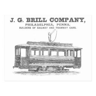 Brill Company Streetcars and Tramway Cars 1860 Postcard