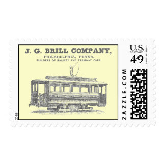 Brill Company Streetcars and Tramway Cars 1860 Stamps