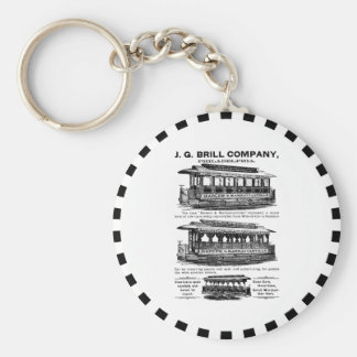 Brill Company Streetcars and Trolleys Basic Round Button Keychain