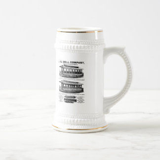 Brill Company Streetcars and Trolleys Beer Stein