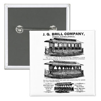Brill Company Streetcars and Trolleys Pinback Buttons