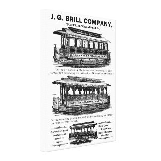 Brill Company Streetcars and Trolleys Canvas Print