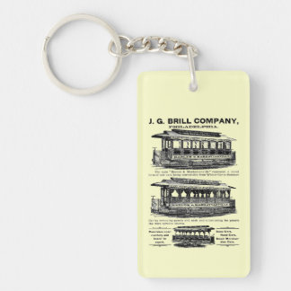 Brill Company Streetcars and Trolleys Double-Sided Rectangular Acrylic Keychain
