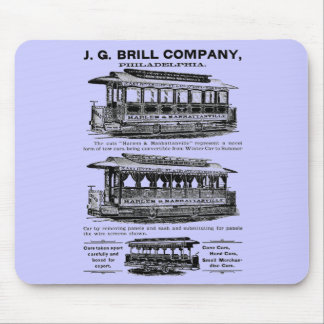 Brill Company Streetcars and Trolleys Mousepads